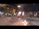 Огненное шоу возле ХНАТОБа