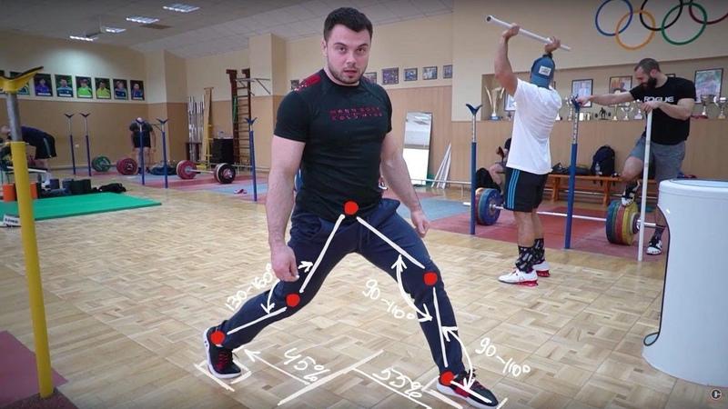 Individual Position for Split Jerk weightlifting by Torokhtiy