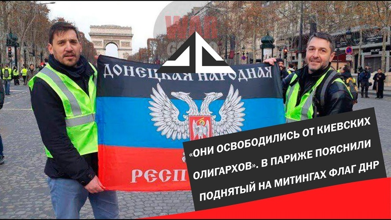 «Они освободились от киевских олигархов». В Париже пояснили поднятый на митингах флаг ДНР