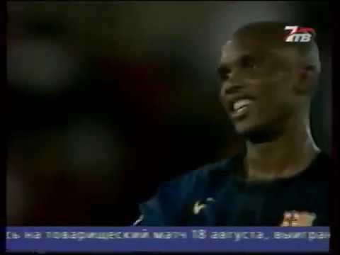Season 2004/2005. Racing Santander RC - FC Barcelona - 0:2 (highlights)