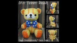 How to Bead My Teddy Bear Part 1/Beading Tutorial