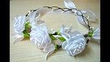 Віночок до Першого причастя. Веночек канзаши. First communion wreath