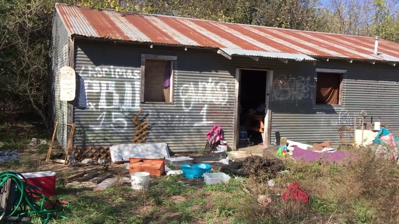 Urban exploration revisit of Del Valle homeless