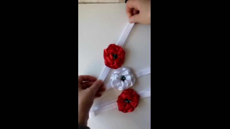 Повязки-цветочки для девочек