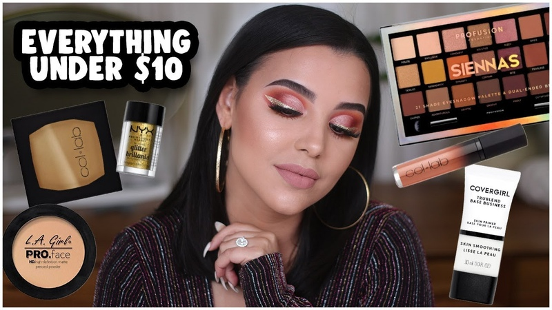 FULL FACE USING NOTHING OVER $10! AFFORDABLE PARTY GLAM MAKEUP TUTORIAL! | MakeupByAmarie