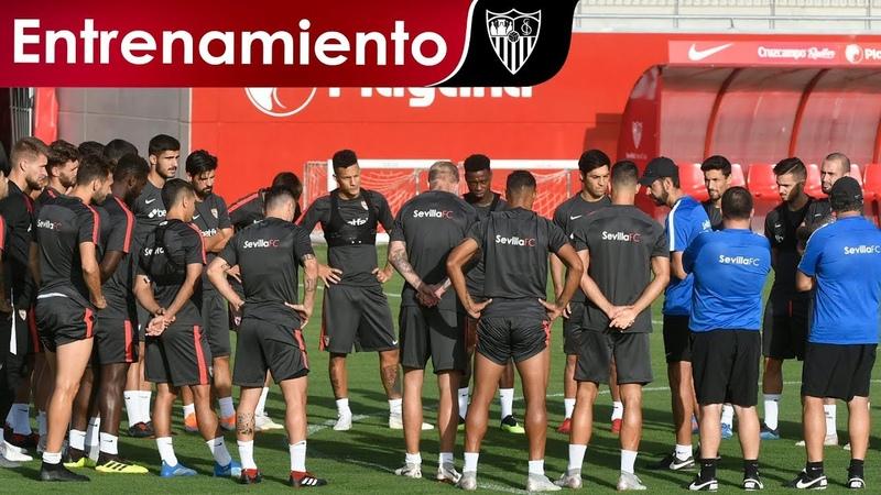 Jesús Navas entrena de forma parcial con el resto del grupo