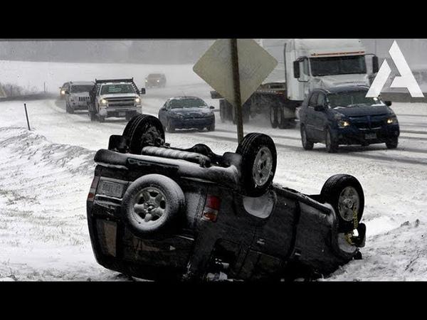 Зимние заносы Гололёд на дороге ДТП 2019
