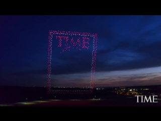 Fly Through A 100 Meter Tall TIME Magazine Cover Made With 958 Drones _ TIME