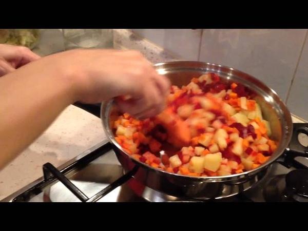 Продолжение готовим в посуде ICOOK винегрет виде 3