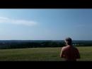 Лето, небо, самолет, поле и одинокое дерево!