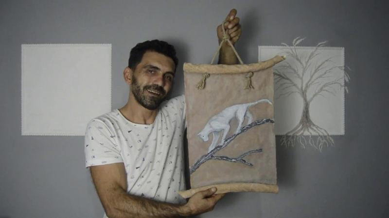Çimento ve Alçı ile 3D Tablo Yapımı Detaylı gösterim