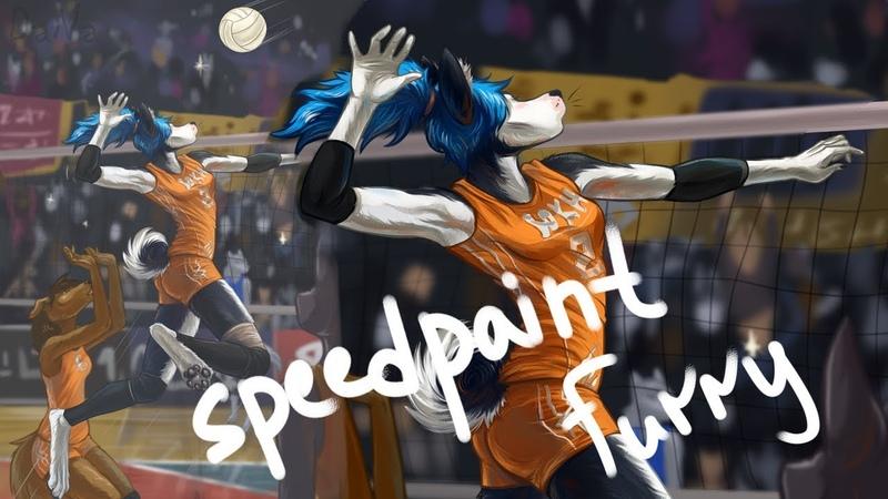 История создания рисунка Как я рисую фурри ( speedpaint furry )