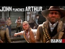 John Marston Punches Arthur Morgan For Insulting Abigail Arthur As A Jerk Red Dead Redemption 2