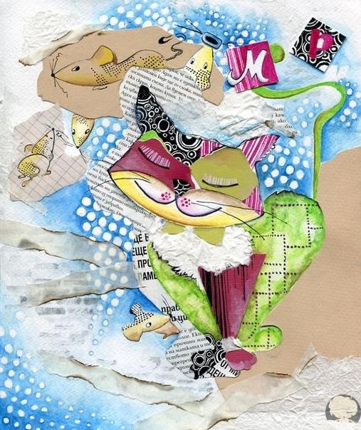 Иллюстратор и дизайнер из Болгарии Веселка Велинова создала невероятно милую серию работ, посвященную кошкам.