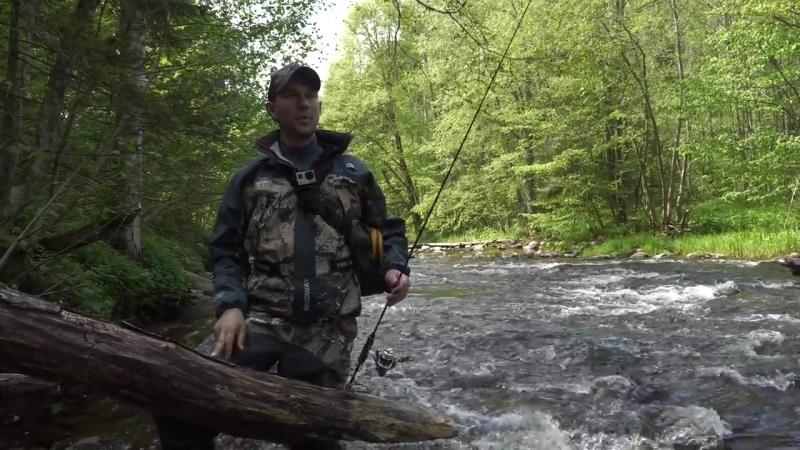 По медвежьим следам за трофейной форелью. Рыбалка с ночевкой на дикой реке Рыбий