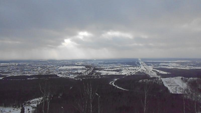 Вид с вершины горы Волчихи