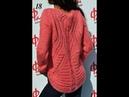 Пуловер с ажурной спинкой Размер 50 52 Часть №2