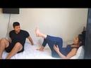 EXTREME BABY PRANK ON feet wotship Goddess Kendra footboy - Feet Joi - Pov