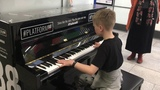 Amazing street pianist and School of Rock drummer perform ChildrenInsomnia, at London train station