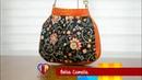 Bolsa de tecido Camélia. Compre o projeto com moldes, medidas e passo a passo no Maria Adna Ateliê