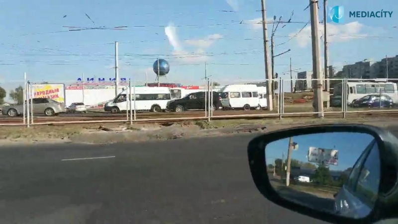 В Курске буксируют маршрутное такси с пассажирами