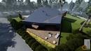 Проект индивидуального жилого дома в стиле Хай-тек. Визуализация.