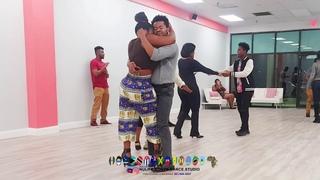 HAITI AND JAMAICA DANCING KOMPA.... DANCE CLASS WITH CLAUDEL