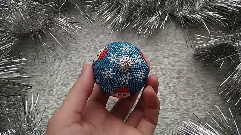 Ёлочный шарик Снеговики