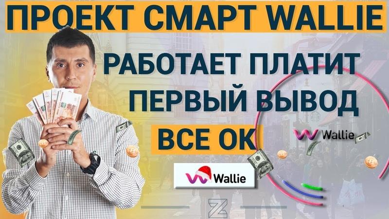 Смарт контракт WALIE платит первый вывод от ZaRaBaRaHOROSHO