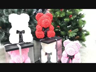 Мишка из роз доставка по России.