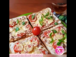 Запечённые бутерброды с тунцом
