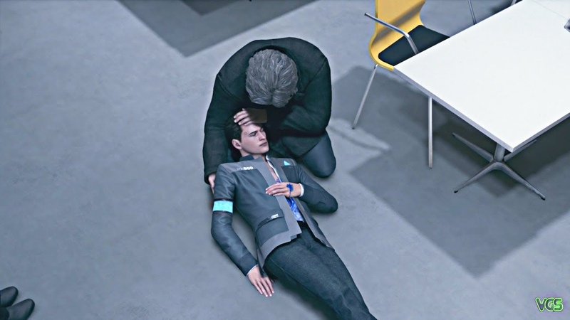 Detroit: Become Human - Connor Dies in Hank's Arms (He Calls Him SON!)