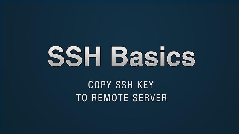 SSH - Copy public key to remote server