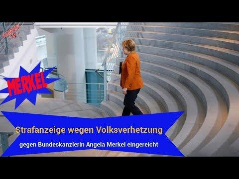 Merkel | politik aktuell neue: Strafanzeige wegen Volksverhetzung gegen Bundeskanzlerin Merkel