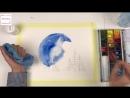 Акварельная ночь. Бесплатный урок по рисованию акварелью для детей 10-14 лет и начинающих взрослых