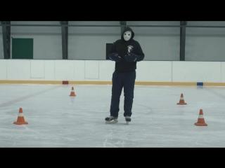 Как повернуть на коньках _ Вираж на коньках _ Поворот на коньках