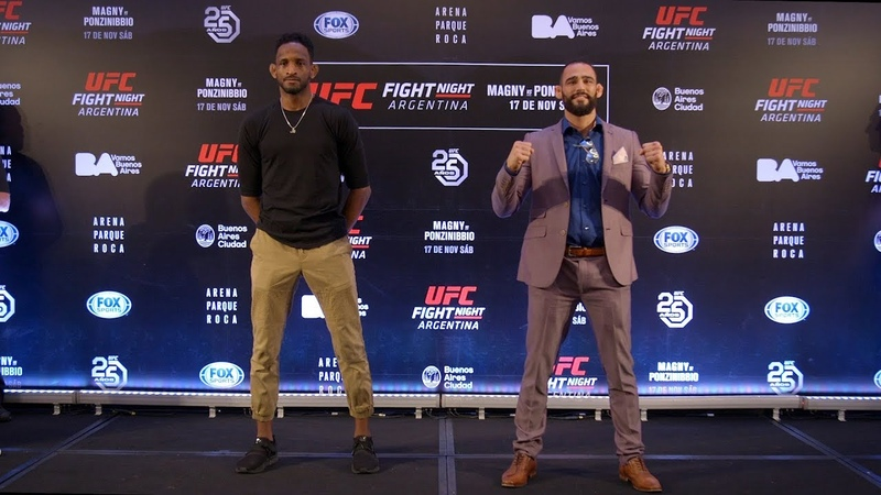 Стердауны главных участников турнира UFC в Аргентине