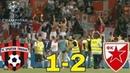 Spartak Trnava vs Crvena Zvezda 1 2 golovi šanse završetak utakmice slovački komentator