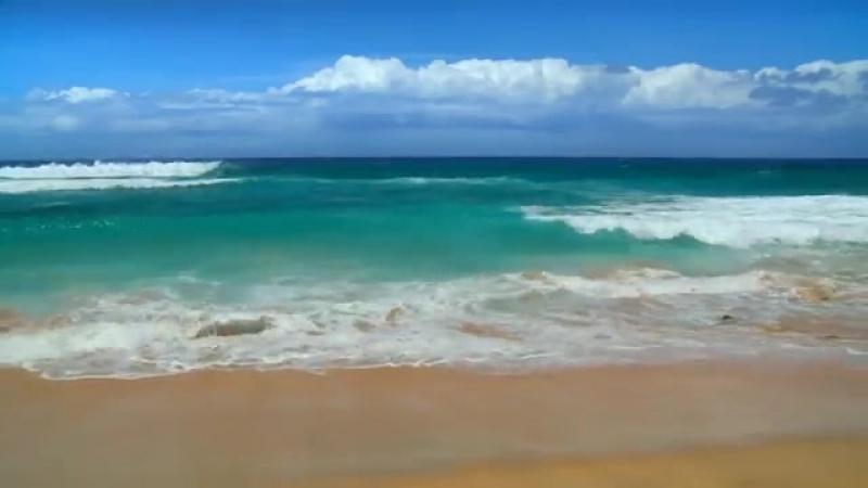 Футаж море, берег, волны с шумом Фон для видеомонтажа 1280 х 720