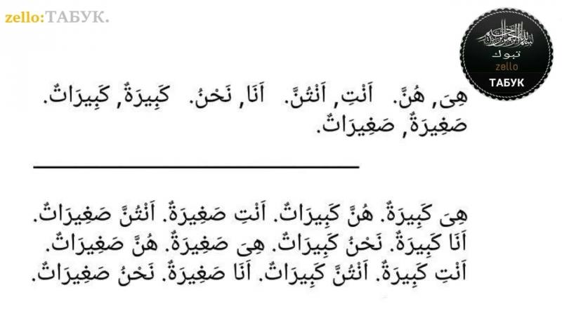Арабский язык 2ой урок женский род