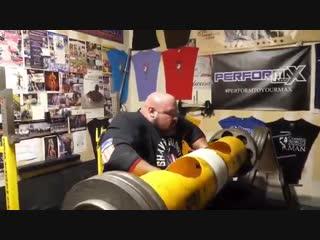 Брайан Шоу лог лифт 191 кг на 3 раза