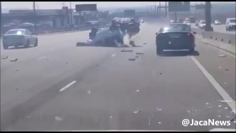Hit and run attempt thwarted by other drivers