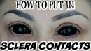 How To Put Big Sclera Contacts In The Easy Way | BeautyByJosieK