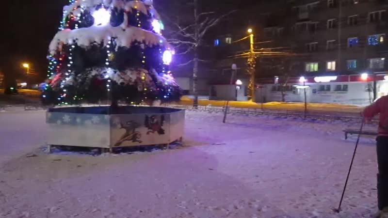 Новогодняя полночь. Вичуга. Тезино. 2019.