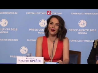 Наталья Орейро на встрече с журналистами в Москве спела песню «United by love»