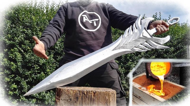 Aatroxs Sword The Darkin Blade - League of Legends (GIANT Aluminum Casting)