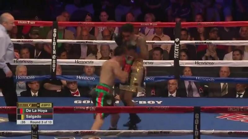 Диего Де Ла Хойя vs Хосе Сальгадо полный бой 8 06 2018