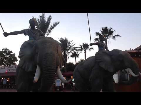 Парк развлечений Картеж Лэнд Хаммамед Тунис Amusement Park Carthage Land Hammamet Tunisia