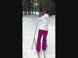 Лыжи 2019. Еве 6 лет.