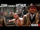 John Marston Punches Arthur Morgan For Insulting Abigail Arthur As A Jerk Red Dead Redemption 2